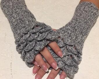 crochet gloves Fingerless crocodile stich women fingerless gloves dragon scale crochet women's gloves women's Arm Warmers  gift Accessory