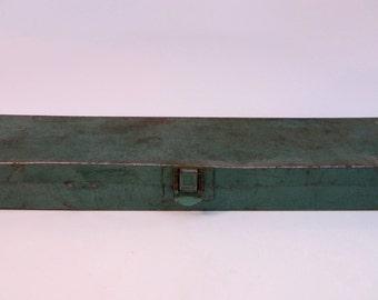 Vintage Small Green Metal Tool Box