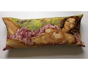 "Cushion canvas XXL ""Nude woman"""