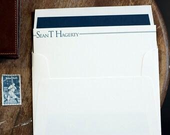 Personalized Letterpress Stationery, Custom Personal Stationery, Letterpress Correspondence Card, Personalized Letterpress Flat Note Card