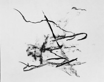 Abstract charcoal drawing