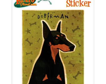 Doberman Guard Dog Vinyl Sticker - #63691