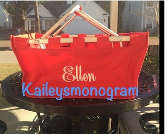 Monogram Market Tote - Red -Market Tote - Gameday