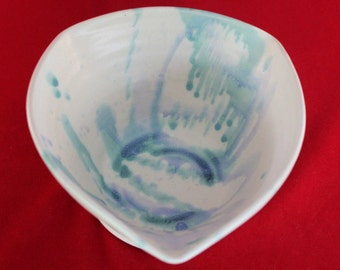 Hand crafted Triangular Pottery Bowl