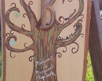 Hand Painted made to order family trees