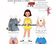 Betsy writes a letter to Grandma Paper Dolls - Digital Download