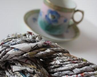 Hand Twisted Newspaper Yarn