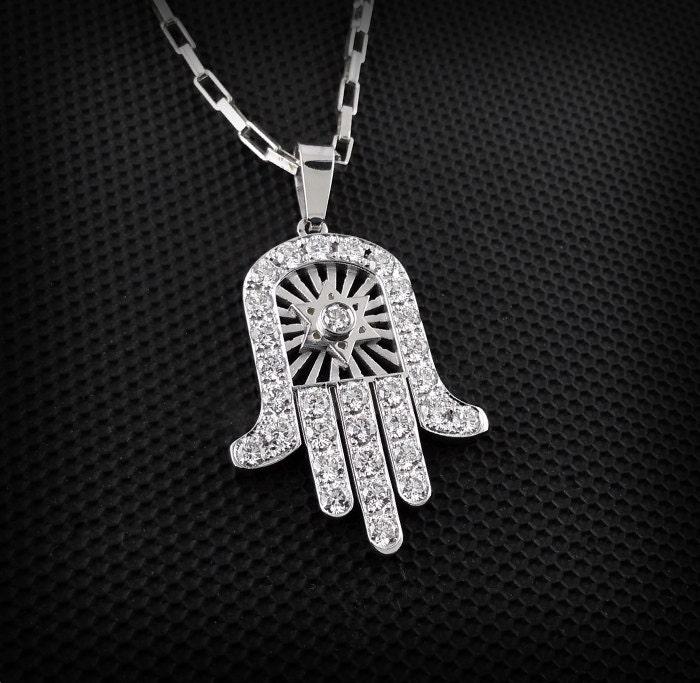 hand of god necklace hamsa gold necklace hamsa necklace