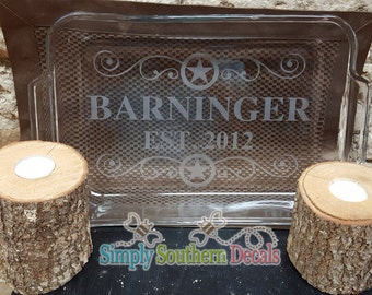 Etched 9x13 Baking pan