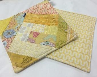 Yellow Potholders - set of 2