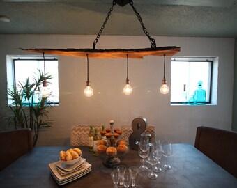 Live edge Mesquite 4 light chandelier
