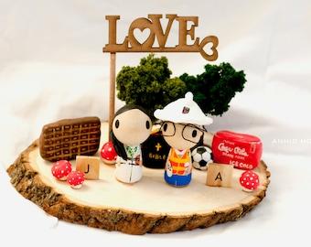 Customize Wedding Cake Topper  - - -Special theme