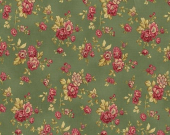 RJR Fabrics Espirit Maison 2469 03 Green Floral Yardage by Robyn Pandolph