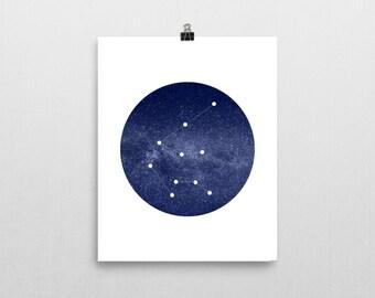 """Aquarius Constellation • 8""""x10"""" Printable Art Print"""