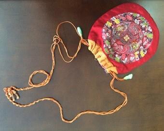 Vintage Silk Asian Pouch