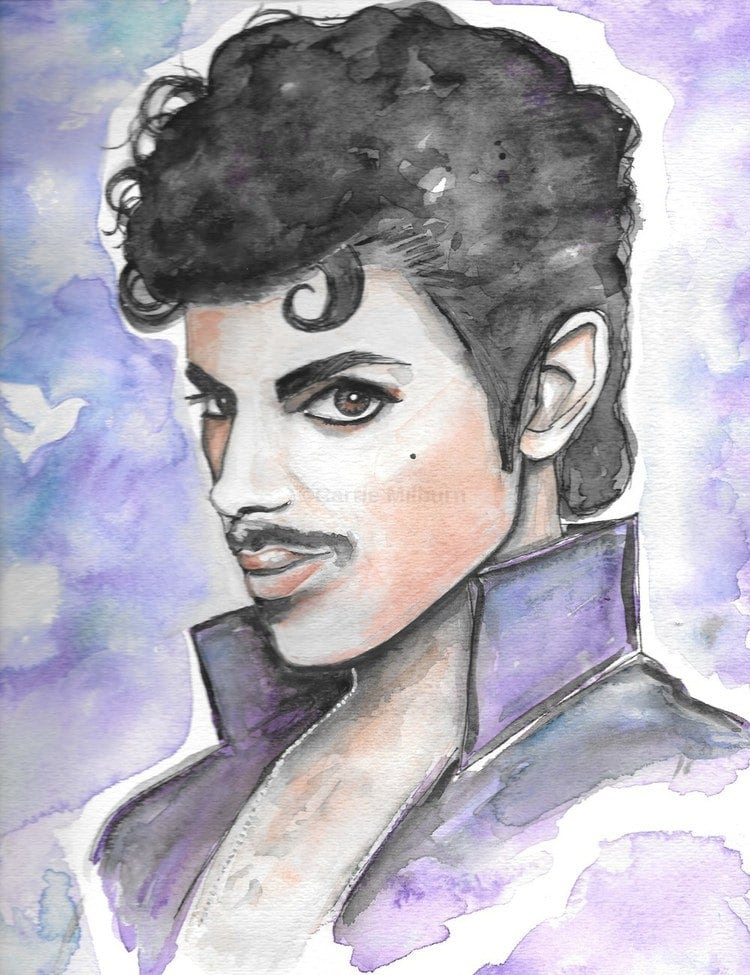 Prince Painting Original Gouache Prince Rogers Nelson