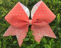 Cheer bow with rhinestones bling cheerleading bow