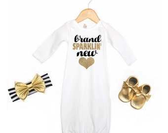 Brand Sparklin New, Baby Gown, Baby Girl Gown, Coming Home Outfit, Baby Girl, Brand Sparklin New Baby Gown, Baby Gift, Baby, Girl