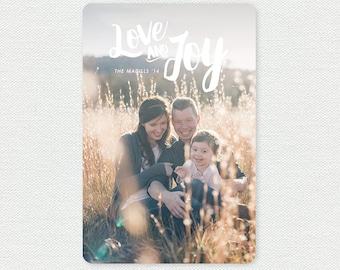Printable Christmas Card - Love and Joy