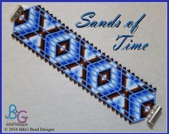 SANDS OF TIME Peyote Cuff Bracelet Pattern