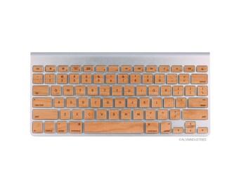 MacBook Wood Keyboard Skin Decal Real Wood Macbook Keyboard Skin iMac Wireless Magic Keyboard