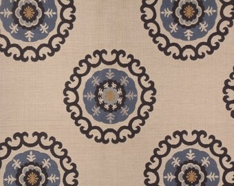 2.5 yards 31408.516 by Kravet Design medallion suzani motif - high end remnant fabric - 60% in savings