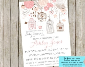 Birds/Nesting Baby Shower invitation