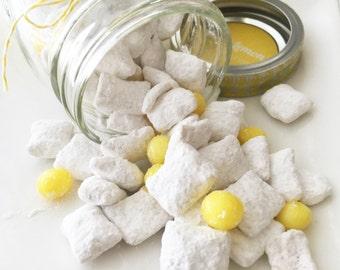 Puppy Chow - Iced Lemon Muddy Buddies - Muddy Buddies - Iced Lemon- Lemon Drop - Gourmet Edible Jars