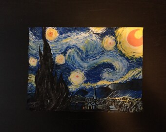 Starry Night- Vincent Van Gogh- Recreation in Tempra Paint