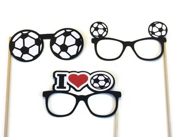 Photo Booth Props-- Soccer Glasses- Photo Booth Prop-Soccer Themed Photo Booth