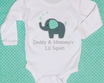 Mommy and Daddy's Little Squirt onsie- made to order