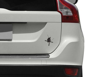 Skier Crossing Skis Car Decal for Cars, Trucks and Motorcycles