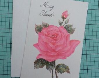 Unused Vintage Thank You Greeting Card