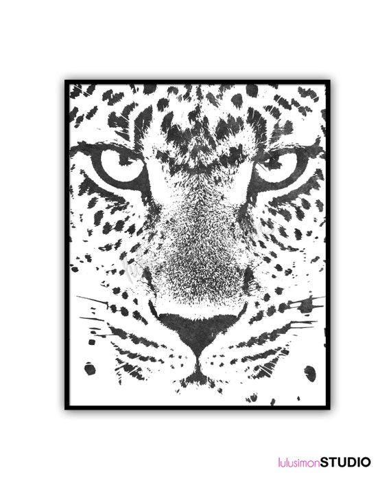 Leopard Animal Print Wall Decor Print Home by lulusimonSTUDIO