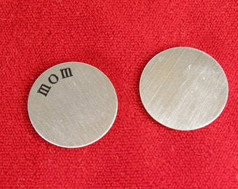 """5pc """"mom"""" stainless steel plate for 30mm memory lockets (LC22)"""