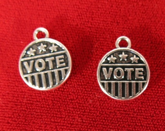 """BULK! 15pc """"Vote"""" charms in silver style (BC964B)"""