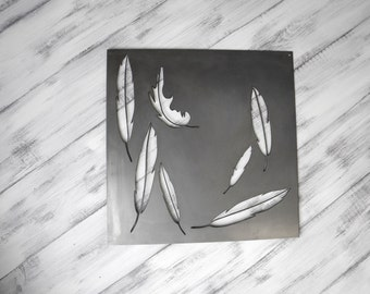 Metal Wall Art, Feathers,