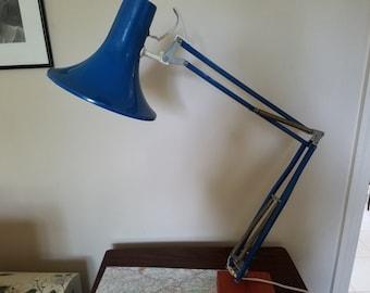 Genuine Mid Danish Century Portable Industrial Metal Desk Lamp Blue Modern MCM Made in Denmark