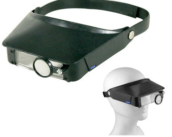 Three Lens Multi Magnifier Head Band Loupe Visor Jewelry Watchmakers Repair Tool. 303-126