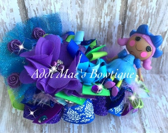 Bluebell Dewdrop Lalaloopsy Inspired Funky Loopy Korker Bubble Bow