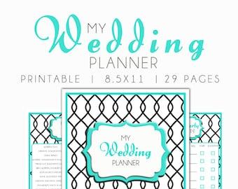 Wedding Planner; Wedding Binder, Wedding Planner Book, Wedding Planner Printable, Wedding Binder Printables, Wedding Planner Printable Bride