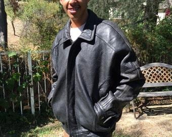 Tannery west, men's leather coat, XL, motorcycle jacket, leather, black, coat,extra-large