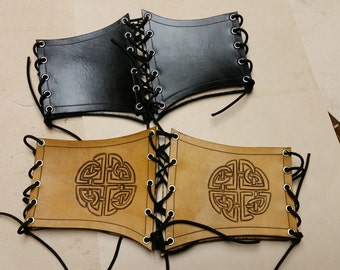 Leather Waist Cincher Wide Belt