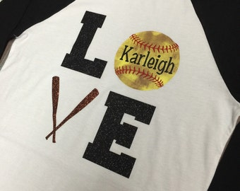 Love Vintage Softball Shirt