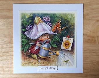 Flower Fairies Card, Flower Fairies Birthday Card, Flower Fairy Card, Flower Fairy Birthday Card, Fairy Birthday Card, Girls Birthday Card,