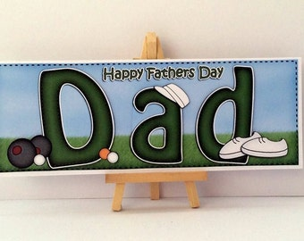Dad Fathers Day Card * Dad Bowls Card * Fathers Day Card * Handmade Card * Happy Fathers Day * Card For Dad * Bowls Fathers Day Card * Dad *