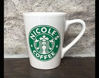 Personalized Starbucks Like Decal/Sticker