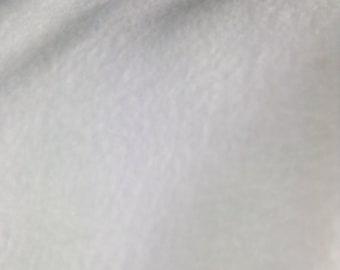 One fat quarter of White (not off white) Fleece