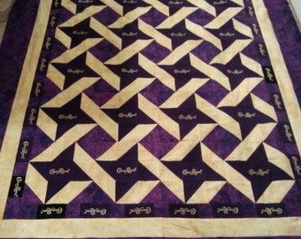 Custom Made Crown Royal Quilt - Great Father's Day Gift - Hand-stitched Binding