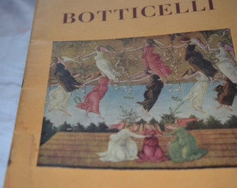 Vintage rare Botticelli Renaissance art/Italian book with lovely image/picture plates